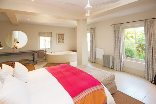 Self Catering Accommodation In Franschhoek - The Map Room Main Bedroom - Home Away From Home