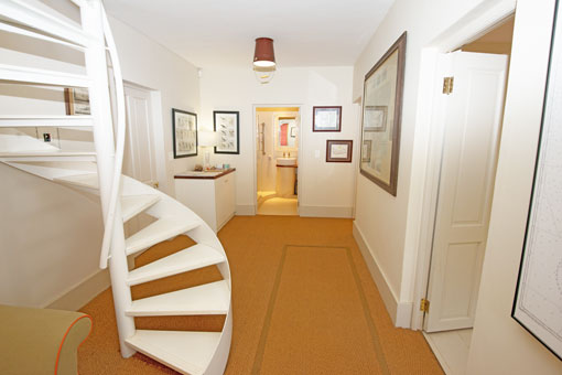 Your Home From Home In Franschhoek - The Entrance Hall And Spiral Staircase
