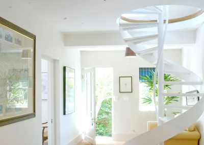 The Entrance Hall And Spiral Staircase to Living Area