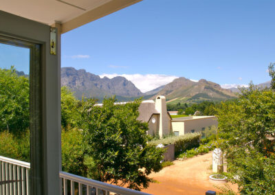 The View From The Balcony - 21 Cabriere Street Franschhoek